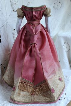 Beautiful Dress for Antique French Fashion Doll 18inch 1860years | eBay