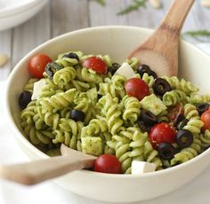 Pasta Salad with Arugula Pesto |HomeFirst Mortgage Corp.| homefirstmortgage.com| #hfm #onestopmortgageprovider