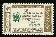 Benjamin Franklin saying on US Postage Stamp