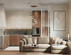 Luxury Kitchen Design, Kitchen Room Design, Home Decor Kitchen, Interior Design Kitchen, Modern Interior Design, Design Apartment, Apartment Interior, Modern Scandinavian Interior, Beige Kitchen
