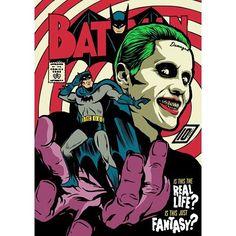 This is badass Love It #Batman #Joker #Art #awesome #badass #suicidesquad #jaredleto #killer #benaffleck #darkknight