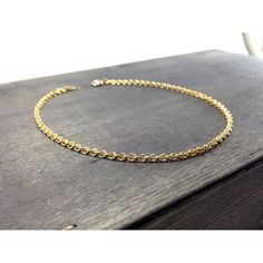 anklet link or chain anchor durable gold inch inches bracelet concave ankle pin