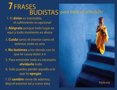 Frases Budistas para traer en el bolsillo