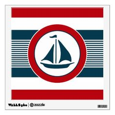 Nautical design wall decal - stripes gifts cyo unique style