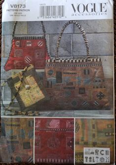 84ea485af7 Sewing Pattern Vogue 8173 Handbags Uncut by GoofingOffSewing Friend Crafts