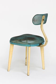 Metal Mesh Chair in the Manner of Jean Prouve   From a unique collection of antique and modern chairs at https://www.1stdibs.com/furniture/seating/chairs/