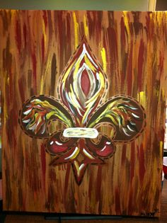 Maroon & Gold Fleur De Lis -Peace Of Art by MelKay (I take orders!)