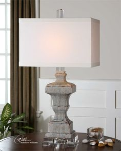 Bedroom 3 Uttermost San Marcello Blue Glaze Lamp