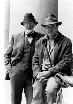 """Sean Connery and Harrison Ford for """"Indiana Jones and The Last Crusade"""" Harrison Ford, Sean Connery, Movies Costumes, I Movie, Movie Stars, Indiana Jones Films, Henry Jones, Men Are Men, Photo Print"""