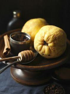 Ahhhh, the jam and jelly making possibilities that lay in these bumpy skinned Quinces. #food #fruit #quince