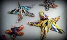 decoracion facil rapido economico reutilizando papel para navidad estrel...