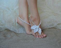 Barefoot sandals Beach wedding barefoot sandals von UnionTouch