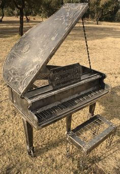Metal Piano for the garden