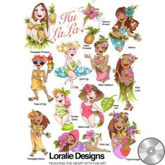 Say hello to Hu La La! These ladies will take you on a beach adventure to a happy hula dance in high fashion. Colors galore, soaring smiles, sweet swimming suits, and fresh flowers will brighten up yo