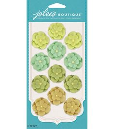 Jolee's Boutique - Green Paper Flower Repeats