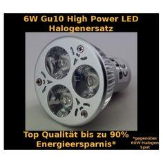 6W High P. LED Spot Gu10 Warmweiß Dimmbar