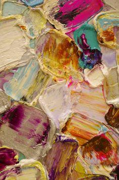 inspiration.. joint compound, palette knife & paint painting textures, pink texture, paint texture, paint inspiration, paint colors, colorful oil paintings, art texture, textured paint, purple texture