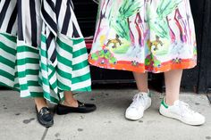 PROOF that any shoe is appropriate for a bangin' skirt.