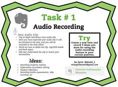 Evernote Task #1 Audio Recording