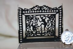 Miniature Dollhouse Lew Kummerow Wrought Iron Art Deco Fireplace Screen 1:12 NR #Kummerows
