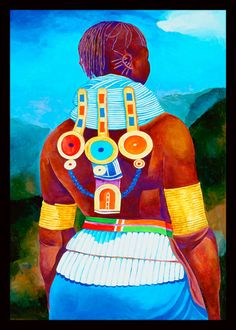 Ivey Hayes Art Work MASAI WOMAN