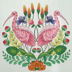 Millie Marotta Tropical Wonderland Storks using Copic Markers