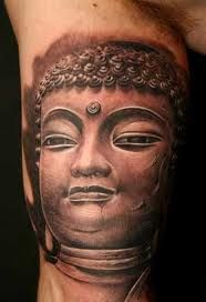 In deed Buddhist Tattoo Designs must look a bit religious but it is not so. It has so many in built values within. That makes Buddhist Tattoo Designs so Buddha Tattoo Design, Buddha Tattoos, Leg Tattoos, Ganesh Tattoo, Dali Tattoo, Statue Tattoo, Off The Map Tattoo, Tattoo Addiction, Religious Tattoos