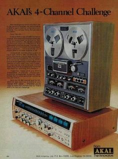 Vintage audio AKAI Ad (1978) Hi Fi Stereo. My, how our music recording technology has evolved and improved in 30 years!