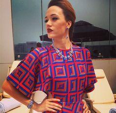Eku Edewor wearing a Lolu Rhoda Empire Necklace Empire, Blouse, How To Wear, Women, Fashion, Photos, Moda, Fashion Styles, Blouses