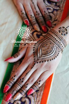 Beauty in simplicity for a lovely bride  www.ArtisticHenna.com https://www.facebook.com/bharathisanghani