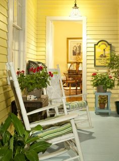 the porch of the Romantic Lighthouse Inn | Tybee Island, GA