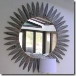 DIY- sunburst mirror from gorgeous shiny things Arts And Crafts Projects, Diy Projects, Let It Shine, Sunburst Mirror, Mirrors, Diy Ideas, Mixed Media, Crafty, Decorating