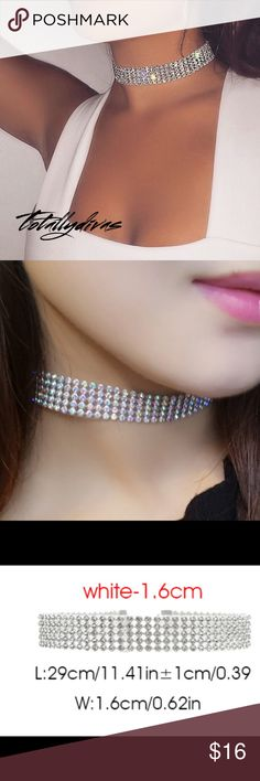 Listing  choker 5 level choker, round crystals make this choker sparkle, great for any formal occasion         bundle and save        ✔️top rated seller         ✔️fast shipper        non smoking home         ❌trades         ✔️offers  ask all ??'s prior to purchase, I will not cancel  Item #002 Jewelry Necklaces