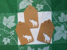Die Cut Elephant Tag by NatureCuts on Etsy