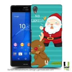 Have a stylish protection for your smartphone this Christmas with Head Case Cookies Santa's Misadventures Design Back Cases! Create Your Own, Smartphone, Santa, Cases, Cookies, Stylish, Christmas, Design, Crack Crackers