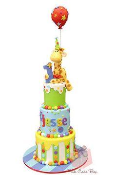 - JJ's First Birthday Cake!
