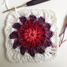 Anleitung Snow Flower Grannysquare (deutsch)