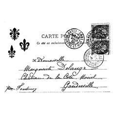 Étiquette carte postale