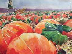Dixon, CA. Cool Patches, Pumpkins, David, Watercolor, The Originals, Vegetables, Cool Stuff, Food, Pen And Wash