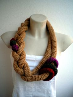 Trendy Necklace Crocheted Woman Collar Fashion Cowl