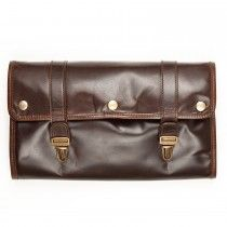 Moore and Giles Austin Hanging Toiletries Kit - Brown