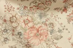 Off White×Red×Blue Flower柄ミドルフレアスカート