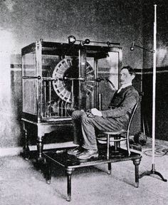 This 'electric breeze' machine was used in British hospitals like this London one around It was thought beneficial to generate an electrostatic charge and deliver the electricity to a patient.