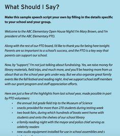 PTO President welcome back speech | PTO stuff | Pinterest