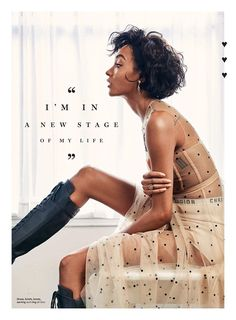 Flaunting some leg, Jourdan Dunn wears Dior briefs, boots and dress