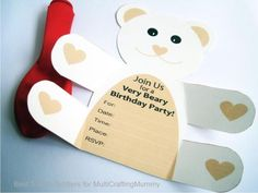 Major love of film birthday party planning invitations arjuns free printable teddy bear birthday party invitation filmwisefo
