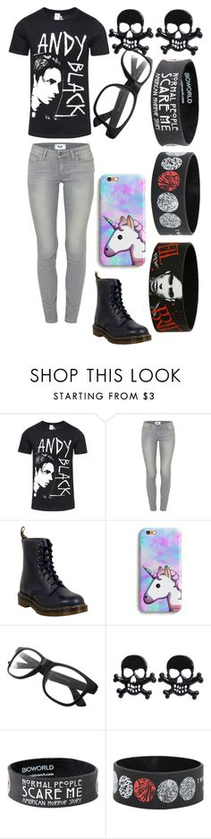 """Emo"" by jazminedawn12 on Polyvore featuring Paige Denim and Dr. Martens"