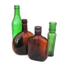 Antique Bottles Green Brown Instant Collection by worldvintage