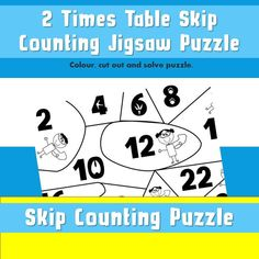 FREE  Printable Skip Counting by 2, Puzzle Activity, Superhero Counting, Learning Numbers, Early Years, Visuals, Pictures to Colour, Cutting Counting Puzzles, Maths Puzzles, Printable Math Games, Free Printable, Board Games For Kids, Kids Board, Times Tables Worksheets, Skip Counting By 2, Maths Paper
