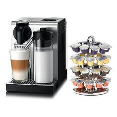 DeLonghi Nespresso Lattissima Pro Stainless Steel Capsule Espresso and Cappuccino Machine with Bonus 40 Capsule Carousel - http://teacoffeestore.com/delonghi-nespresso-lattissima-pro-stainless-steel-capsule-espresso-and-cappuccino-machine-with-bonus-40-capsule-carousel/